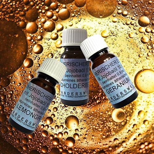 Ätherische Düfte mit Jojobaöl