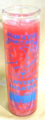 Bougies des 7 jours en verre - Lovers Adam & Eve (Les amants Adam & Eve)