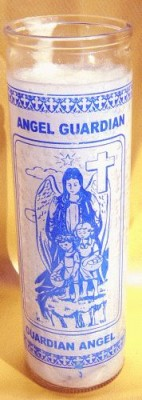 7 Day Glass Candle - Guardian Angel PU = 12 pieces