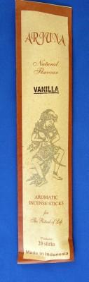 Arjuna arôme naturel bâtons d'encens Vanille