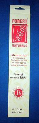 Incenso Forest Natural, meditazione