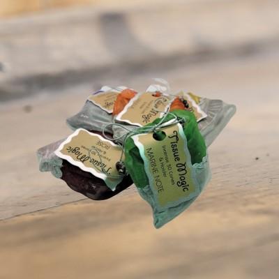 Tissue Magic cône d'encense avec support dans un sachet, emballage trié