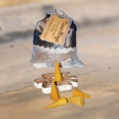 Tissue Magic cône d'encense avec support en petit sac, cannelle