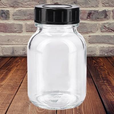 Weithalsflaschen weiß mit Verschluss  50 ml