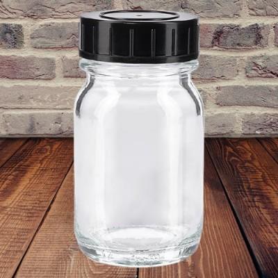 Weithalsflaschen weiß mit Verschluss  30 ml
