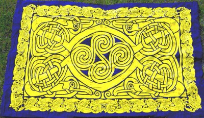 Cloth with Celtic Pattern Blue