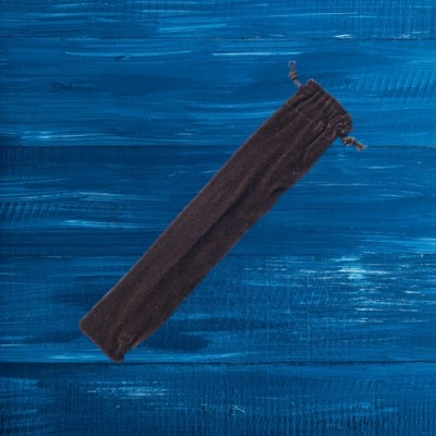 Borsa di velluto nero per bacchette