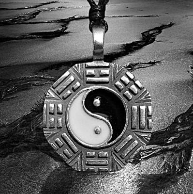 Zinn-Anhänger Yin Yang