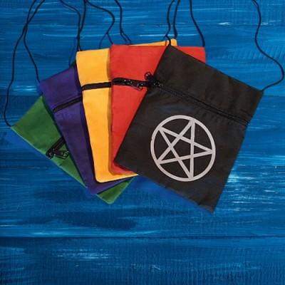 Sac pochette avec Pentagram Rouge