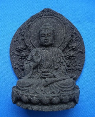 Buddha of Lava stone black