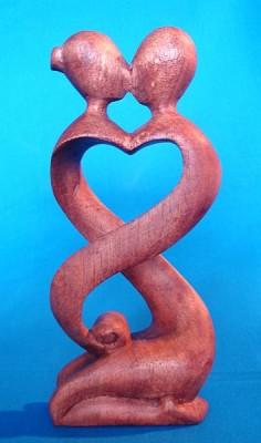 Feng Shui couple of lovers of wood