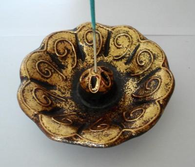 Keramik-Koro Schale mit Spiralen
