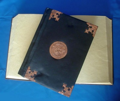 Book of Shadows, Synthetic Leather and Copper fittings