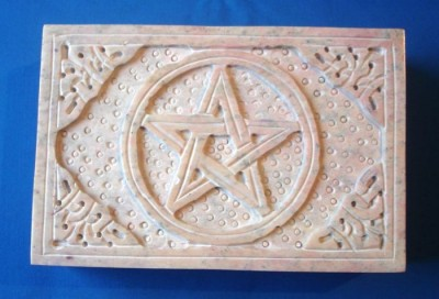 Soapstone Box with Pentagram