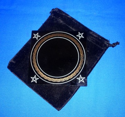 Black Mirror, small 10 x 10 cm with bag