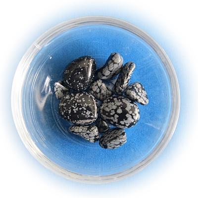 Obsidian Fiocco di neve Tumbled Pietra sorta 100 g