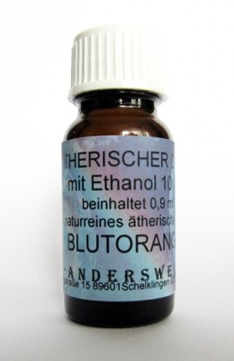 Ethereal fragrance (Ätherischer Duft) ethanol with blood orange