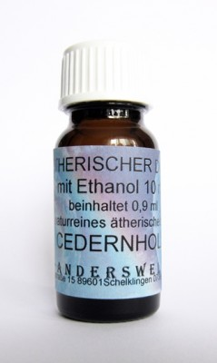 Ethereal fragrance (Ätherischer Duft) ethanol with cedarwood