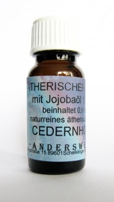 Ethereal fragrance (Ätherischer Duft) jojoba oil with cedarwood