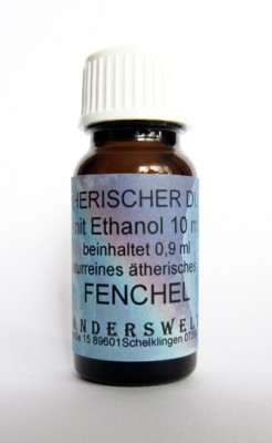 Ethereal fragrance (Ätherischer Duft) ethanol with fennel sweet