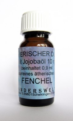 Fragranza etereo (Ätherischer Duft) olio di jojoba con finocchio