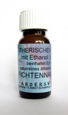Parfum éthéré (Ätherischer Duft) éthanol avec aiguilles d´épicéa commun