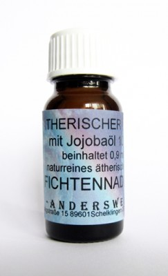 Ethereal fragrance (Ätherischer Duft) jojoba oil with spruce needles