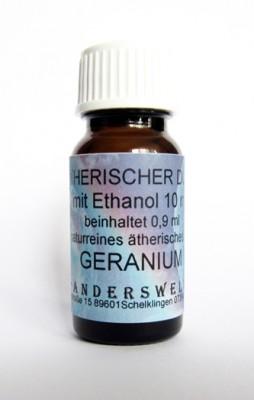 Fragranza etereo (Ätherischer Duft) etanolo con geranio