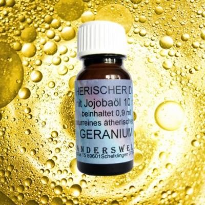 Parfum éthéré (Ätherischer Duft) huile de jojoba avec géranium