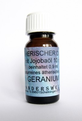 Ethereal fragrance (Ätherischer Duft) jojoba oil with geranium