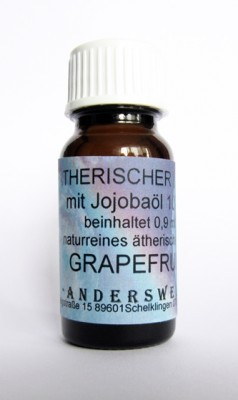 Ethereal fragrance (Ätherischer Duft) jojoba oil with grapefruit