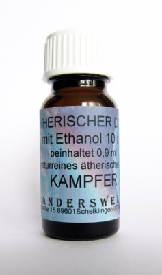 Ethereal fragrance (Ätherischer Duft) ethanol with camphor