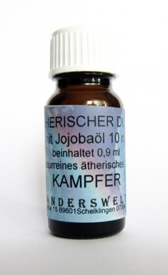 Ethereal fragrance (Ätherischer Duft) jojoba oil with camphor