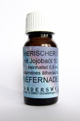 Ethereal fragrance (Ätherischer Duft) jojoba oil with pine needles