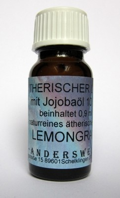 Ethereal fragrance (Ätherischer Duft) jojoba oil with lemongrass
