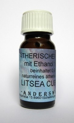 Ethereal fragrance (Ätherischer Duft) ethanol with litsea cubeba