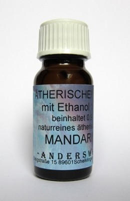 Ethereal fragrance (Ätherischer Duft) ethanol with mandarin