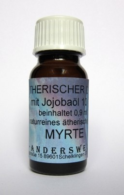 Ethereal fragrance (Ätherischer Duft) jojoba oil with myrtle