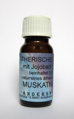 Ethereal fragrance (Ätherischer Duft) jojoba oil with nutmeg