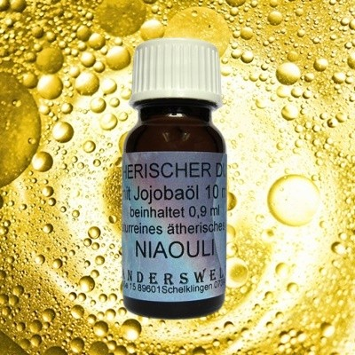 Fragranza etereo (Ätherischer Duft) olio di jojoba con niaouli