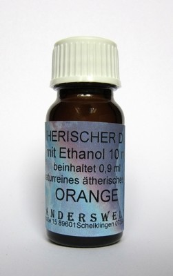 Ethereal fragrance (Ätherischer Duft) ethanol with orange
