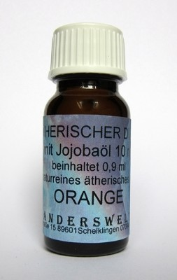 Ethereal fragrance (Ätherischer Duft) jojoba oil with orange