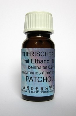 Ethereal fragrance (Ätherischer Duft) ethanol with patchouli