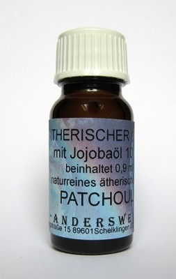 Ethereal fragrance (Ätherischer Duft) jojoba oil with patchouli