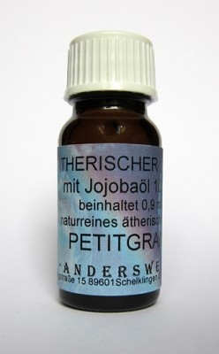 Ethereal fragrance (Ätherischer Duft) jojoba oil with petitgrain