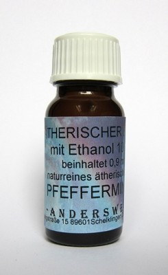 Ethereal fragrance (Ätherischer Duft) ethanol with peppermint