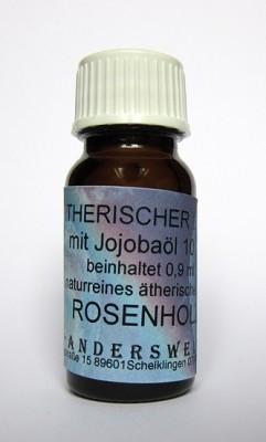 Parfum éthéré (Ätherischer Duft) huile de jojoba avec bois de rose