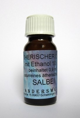 Ethereal fragrance (Ätherischer Duft) ethanol with sage