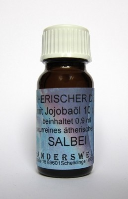 Fragranza etereo (Ätherischer Duft) olio di jojoba con salvia