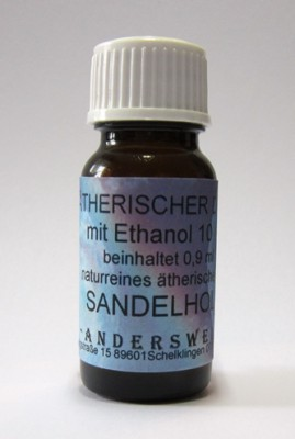 Ethereal fragrance (Ätherischer Duft) ethanol with sandalwood